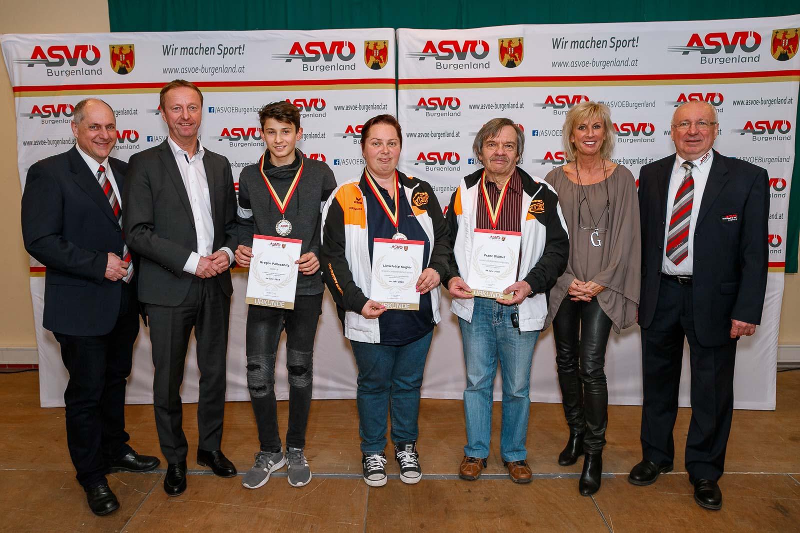Asvö Topsportler Des Bezirks Eisenstadt Geehrt Asvö Burgenland
